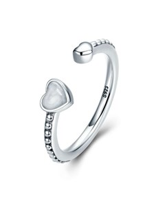 jewellery: Silver Double Open Heart Cubic Ring!