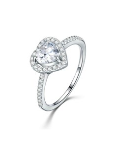 jewellery: Silver Heart Shape Cubic Love Ring!