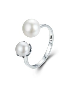 jewellery: Silver Double Open Pearl Ring!
