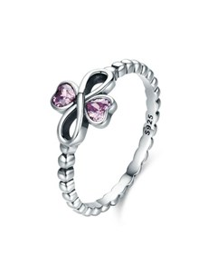 jewellery: Silver Infinity and Pink Cubic Heart Ring!