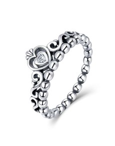 jewellery: Silver Cubic Heart Filligree Crown Ring!
