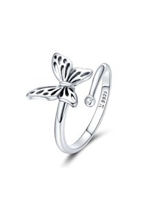 jewellery: Silver Open Butterfly Open Ring!