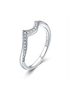 jewellery: Silver Pave Cubic Wishbone Ring!