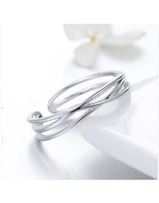 jewellery: Silver Woven Silver Open Ring!
