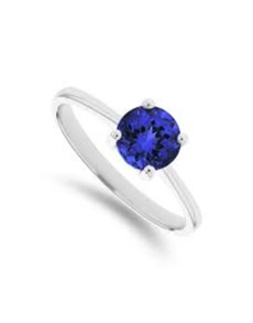 gifts: Silver Claw Set Round Tanzanite Ring!
