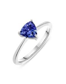 gifts: Silver Claw Set Trilliant Tanzanite Ring!