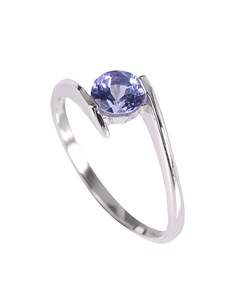 jewellery: Silver 0.65ct Swirl Shank Tanzanite Ring!
