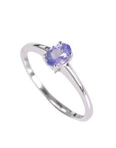 jewellery: Silver 1.01ct Oval Tanzanite Knife Edge Ring!