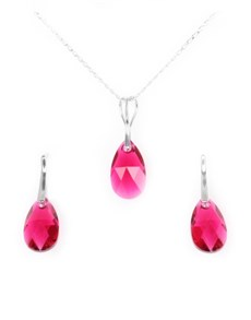 jewellery: Sterling Silver Drop Swarovski Crystals Set!