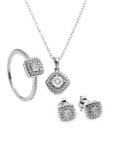 jewellery: 9KT White Gold Diamond Set!