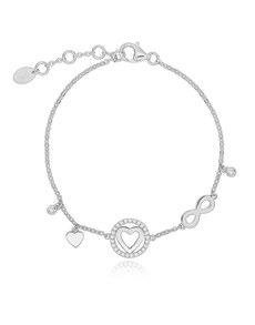 jewellery: Silver Heart and Infinity Cubic Bracelet!
