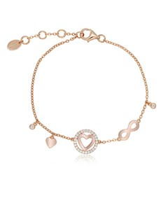 jewellery: Silver RG Heart and Infinity Cubic Bracelet!