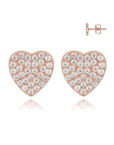 gifts: Silver Cubic Pave RG Heart Studs!