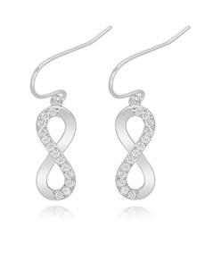 jewellery: Silver Infinity Pave Drop Earrings!