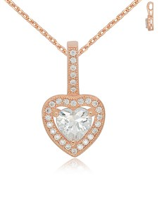 jewellery: Silver Heart RG Cubic Necklace!