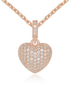 jewellery: Silver Rose Micro Pave Cubic Pendant!