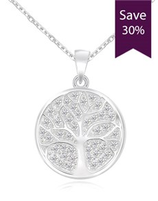 jewellery: Silver Cubic Tree of Life Necklace!