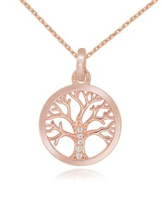 jewellery: Silver RG Cubic Open Tree of Life Necklace!