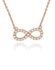 jewellery: Silver RG Cubic Infinity Necklace!
