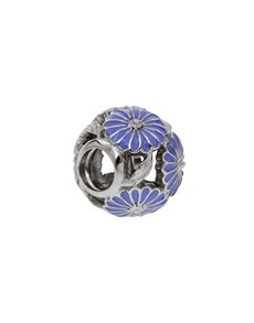 jewellery: Silver Lilac Flower Bead Charm!