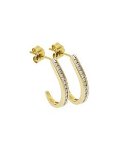 jewellery: 9KT YG 0.25ct Large Hoop Earrings!