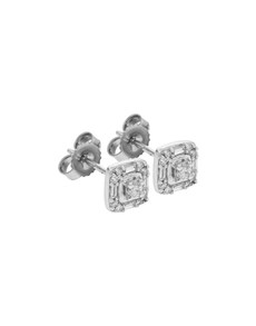 jewellery: 9KT WG 0.25ct Square Earrings!