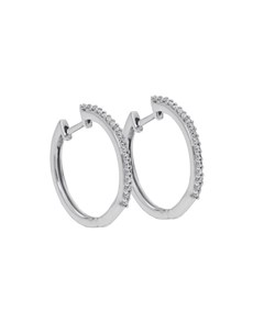 jewellery: 9KT WG 0.14ct Huggie Earrings!