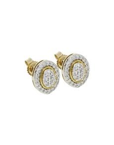 jewellery: 9KT YG 0,34ct Round Studs!