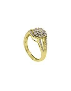 jewellery: 9KT YG Swirl Split Shank 0.50ct Ring!