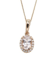 jewellery: 10KT Rose Morganite Round Necklace!