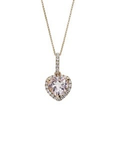 jewellery: 10KT Rose Heart Morganite Necklace!