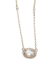jewellery: 10KT Rose Round Morganite Neckpiece!