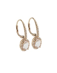 jewellery: 10KT Rose Round Morganite Sheppard Hook Earrings!