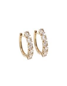 jewellery: 10KT Rose Round Morganite Huggie Earrings!