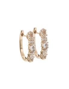 jewellery: 10KT Rose Round  0,87ct Morganite Earrings!