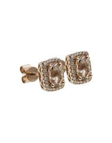 jewellery: 10KT Rose Cushion Morganite Earrings!
