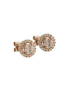 jewellery: 10KT Rose Round Halo Morganite Earrings!