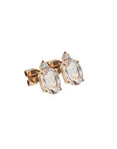 jewellery: 10KT Rose Oval and Round Morganite Earrings!
