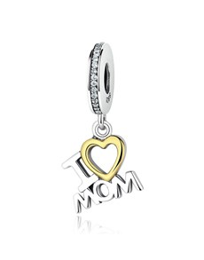 jewellery: Silver 925 Dangle I Love Mom Charm!