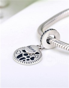jewellery: Silver 925 Round Dangle Charm with Heart Detail!