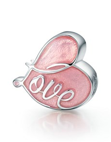jewellery: Silver 925 Heart Pink Enamel Love Charm!