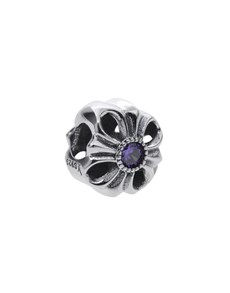 jewellery: Silver 925 Round Open Flower Purple Cubic Charm!