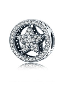 jewellery: Silver 925 Round Pave Clear Cubic Charm!