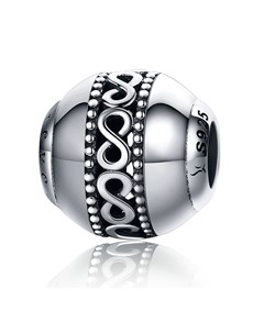 jewellery: Silver 925 Round Filigree Infinity Charm!