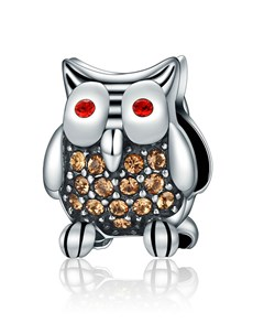 jewellery: Silver 925 Wise Owl Cubic Charm!