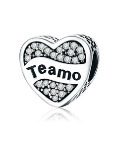 gifts: Silver 925 Heart Teamo Cubic Charm!
