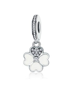 jewellery: Silver 925 Hearts Flower Enamel and Cubic Dangle!