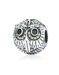 jewellery: Silver 925 Round Owl with Cubic Charm!