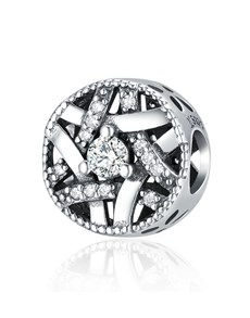 jewellery: Silver 925 Round Woven Cubic Charm!
