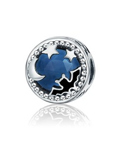 jewellery: Silver 925 Round Blue Glass and Cubic Charm!